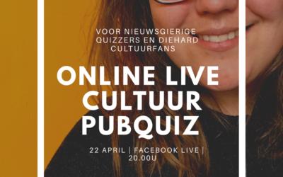 Online Live Cultuur Pubquiz – 22 april