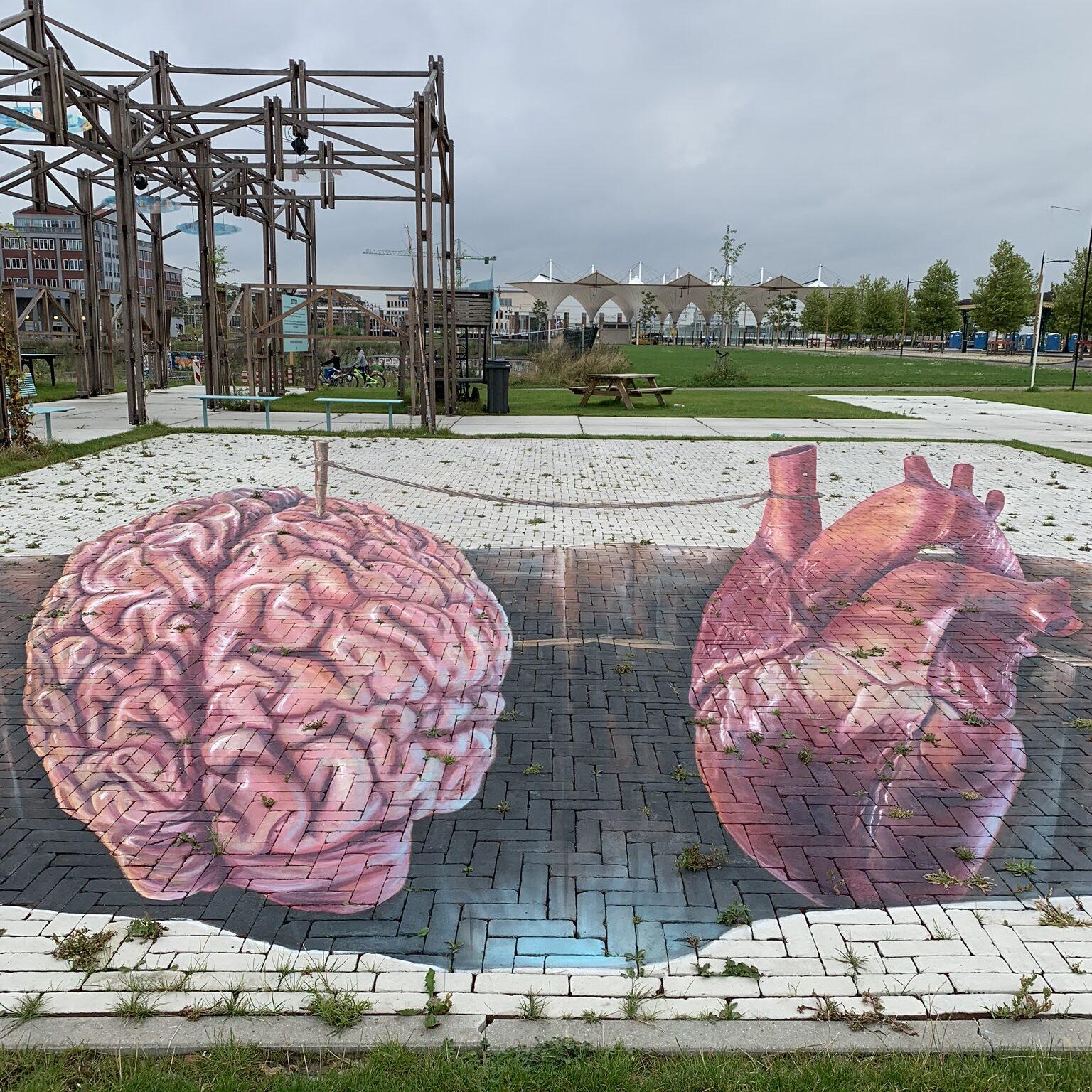 Wetenschap en kunst tijdens Er was geen reden voor contact, Berlijnplein